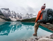 My Lowepro Whistler backpack carries my myriad of camera gear to locations like Moraine Lake