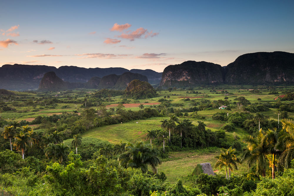 Sunset above the town of vinales, Cuba by Brendan Van Son