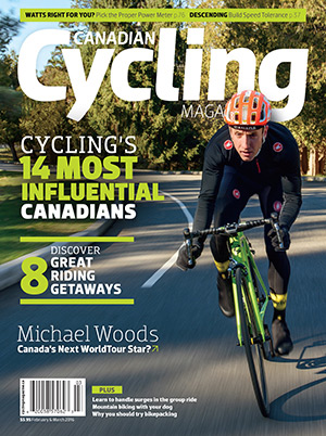The cover of Canadian Cycling Magazine's Issue 7.1