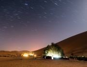 Stars fall over our tents in the Sahara Desert