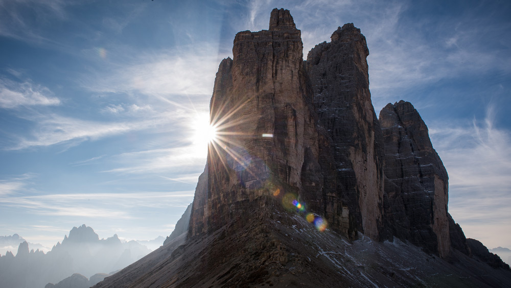 Tre Cime, Italy, was once the frontline of World War 1. Now it's a stunning tourist destination in the Dolimites