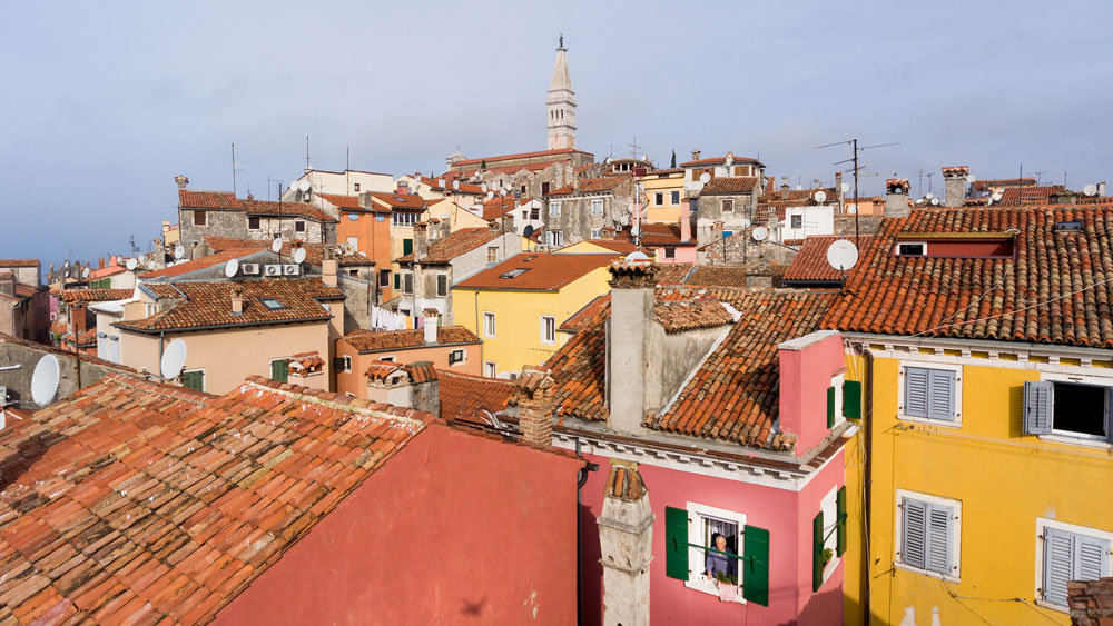 Flying high above Rovinj, Croatia, I discovered new views of an ancient city.