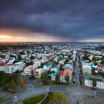 @brendanvanson captures Reykjavik from above