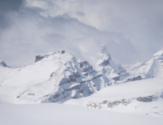 The Little Yoho Traverse, which crosses the Wapta Icefield, is a stunning mountain environment