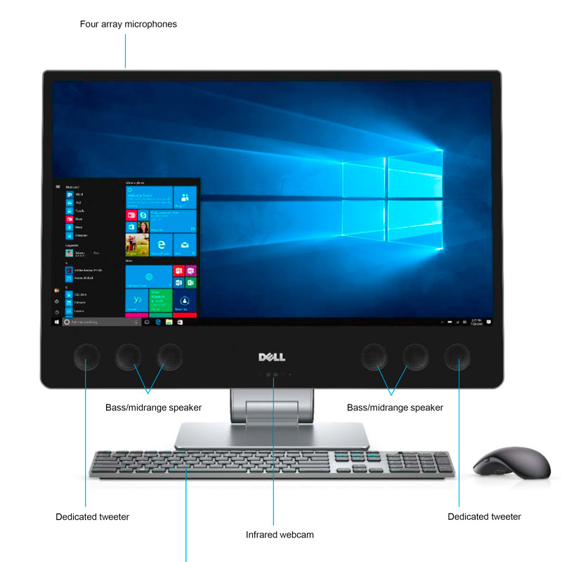 the front of a Dell XPS 27 All-in-One