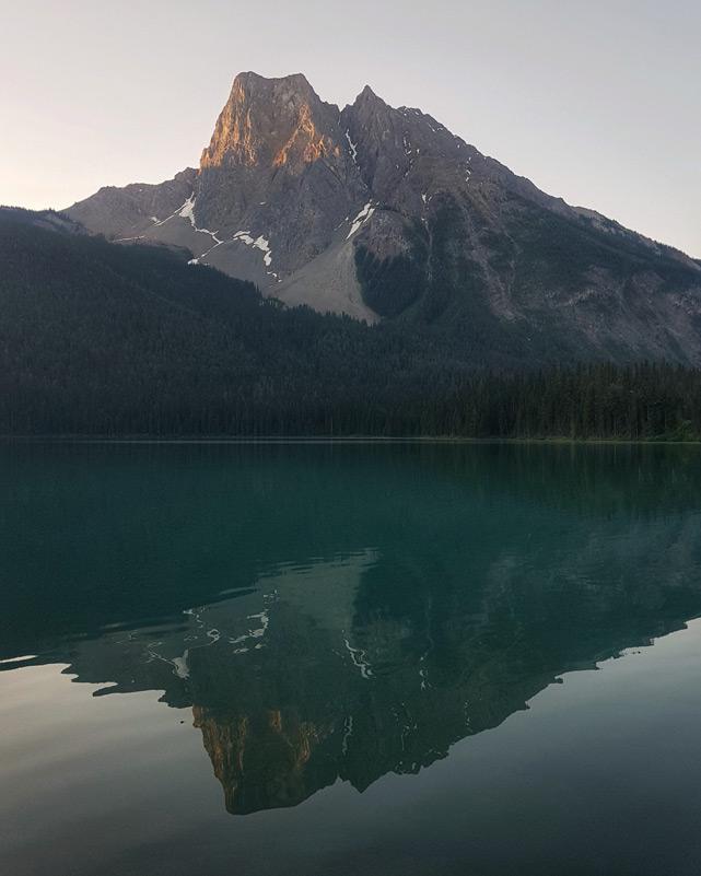 Emerald Lake sunrise for vertical displays