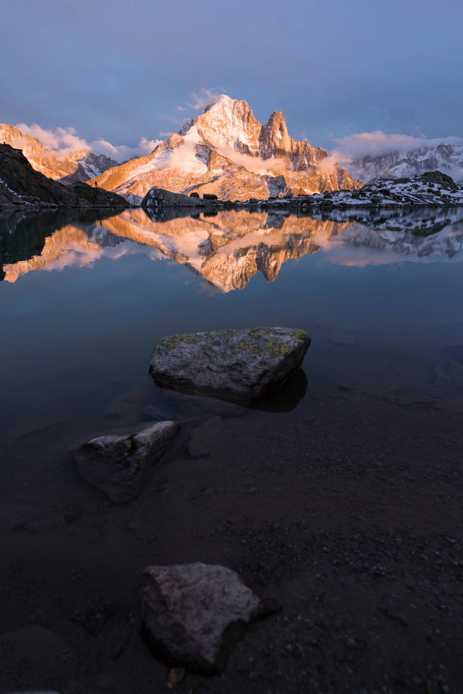 Sunset at Lac Blanc, near Chamonix, France