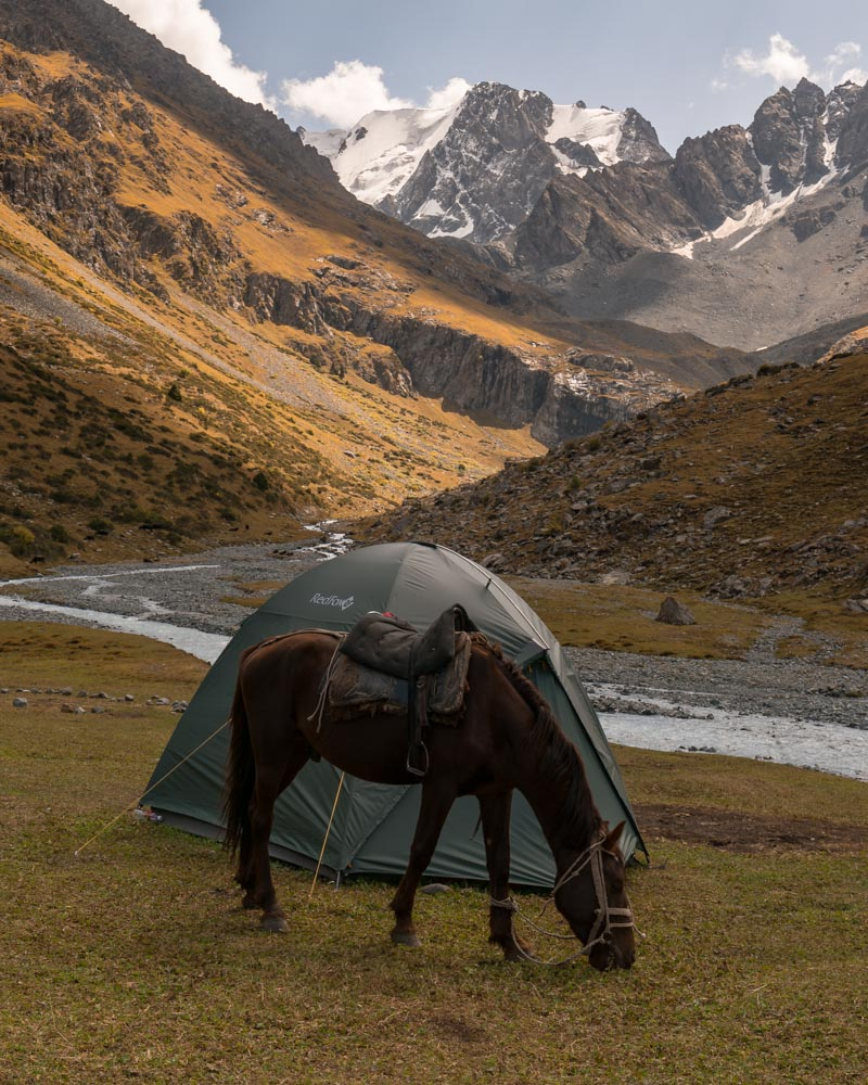 There were so many stunning camping locations during our hike in kyrgyzstan