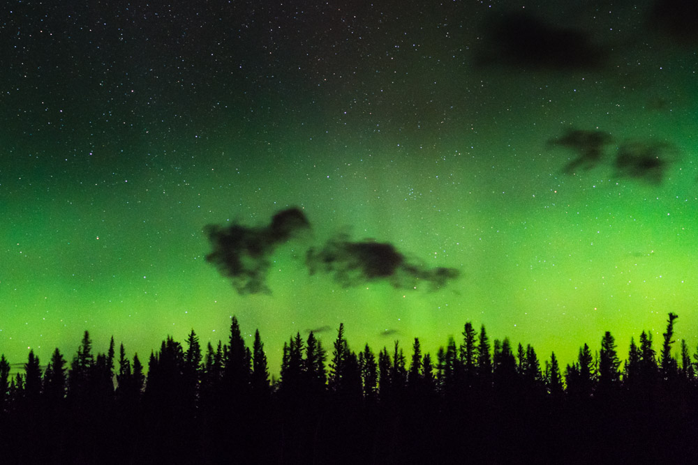 The timelapse of these northern lights was used in a National Geographic film