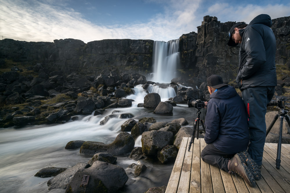 one-on-one instruction in the field during the iceland and the summer solstice workshop