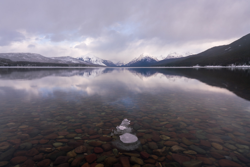 The classic view across Lake MacDonald in Glacier National Park is a must-see location during any visit to Kalispell, Montana