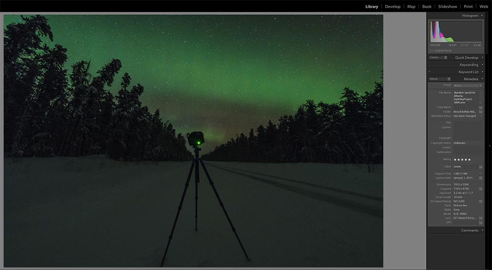 mastering the exposure for a night sky image