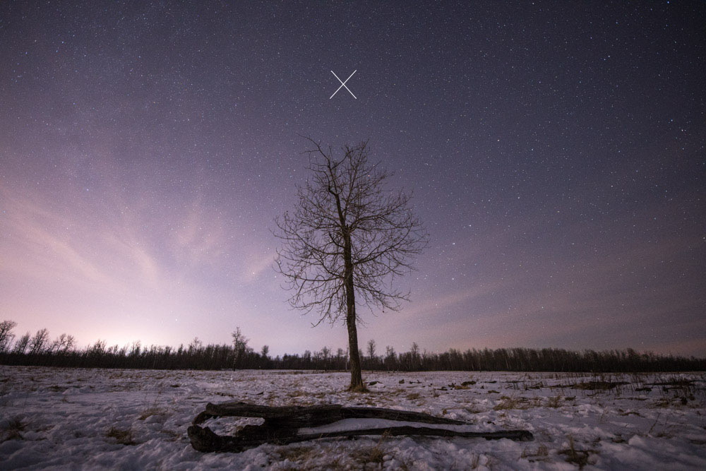 compose with the north star clearly visible