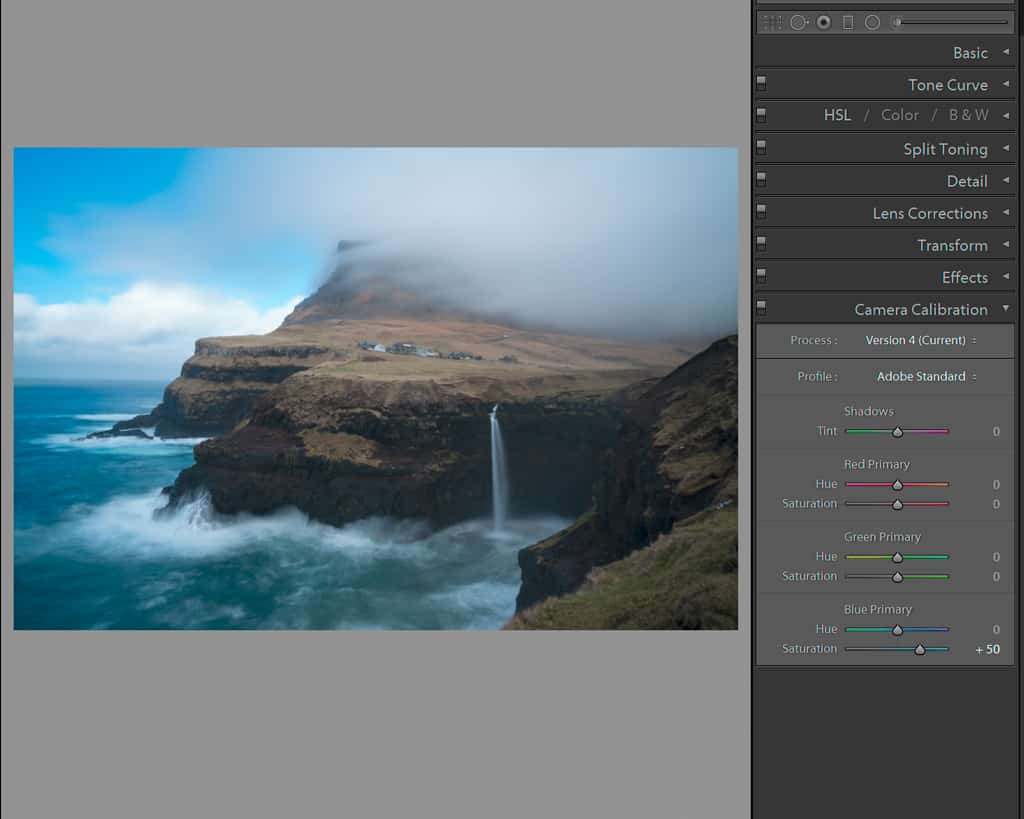 Adjusting the camera calibration to reintroduce color to an image.