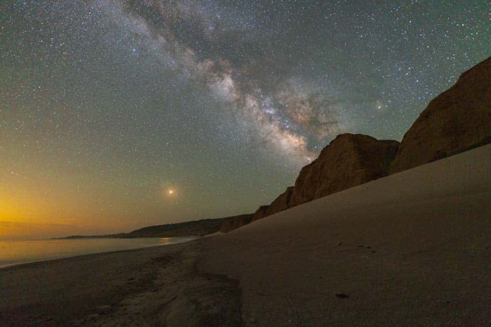 The clear night skies and the milky way are plainly visible on Santa Rosa